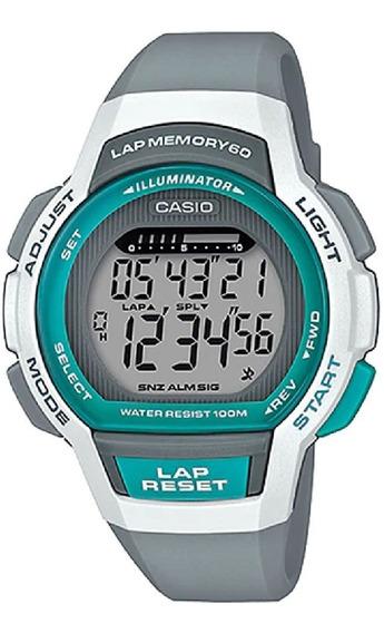 Relógio Casio Feminino Lap Memory60 Standard Lws-1000h-8avdf