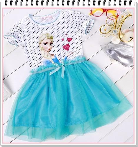 Vestido Frozen Niña Disfraz Importado Tutu Elsa Ropa Disney