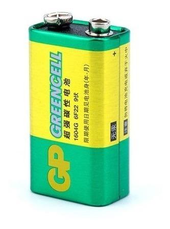 Pila 9v Gp Carbon Cuadrada Greencell 100% Nuevo Sellado X 2