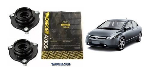2 Coxim De Amortecedor Dianteiro Axios Honda Civic 2008 2009