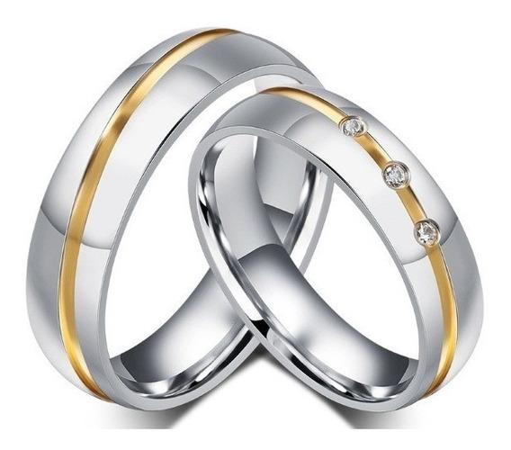 Aliança Anel Par De Compromisso Noivado Romântico Namoro