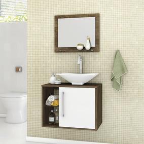 Gabinete Para Banheiro Com Cuba E Espelheira Baden Ihwt