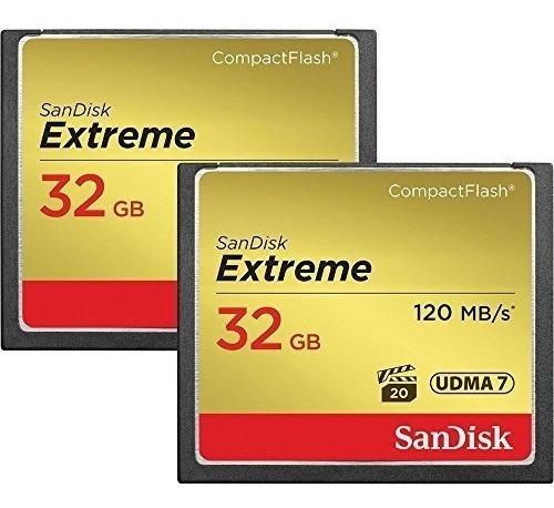 Memória Sandisk Extreme Cf Compact Flash 32gb 120mb Lacrado