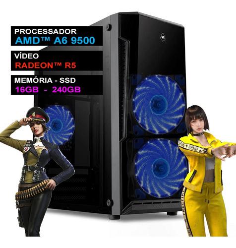 Computador Completo 16gb Pc Gamer Free Fire Cs Pubg Lol Nfe