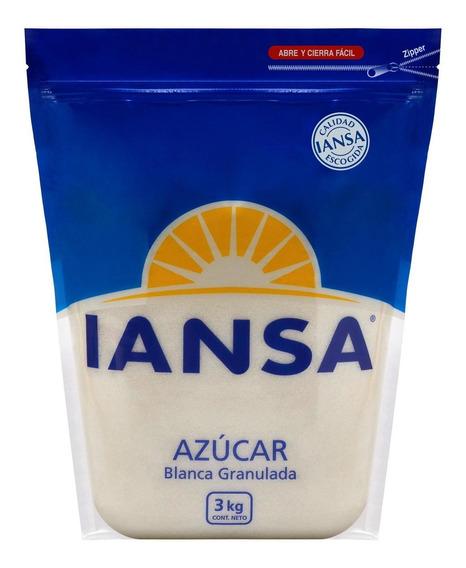 Azúcar Blanca Granulada Iansa 3kg Pack 6 Unidades
