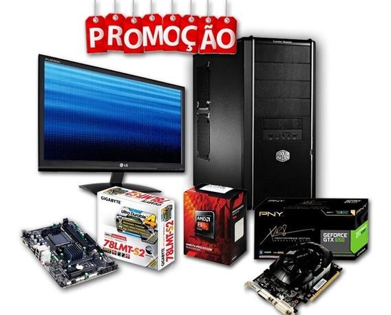 Pc Gamer + Monitor Lg / Amd Fx4300, Geforce 650, 4gb Ram