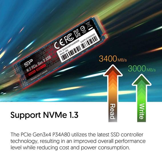 Silicon Power 512gb Ssd M.2 Pcie 3200mb/s Samsung 970 Evo Wd