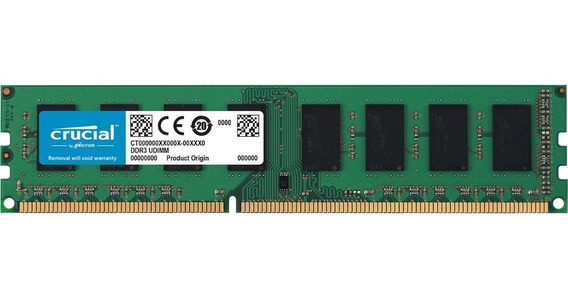 Memoria Crucial Pc 8gb Ddr3l-1600 Udimm Ct102464bd160b