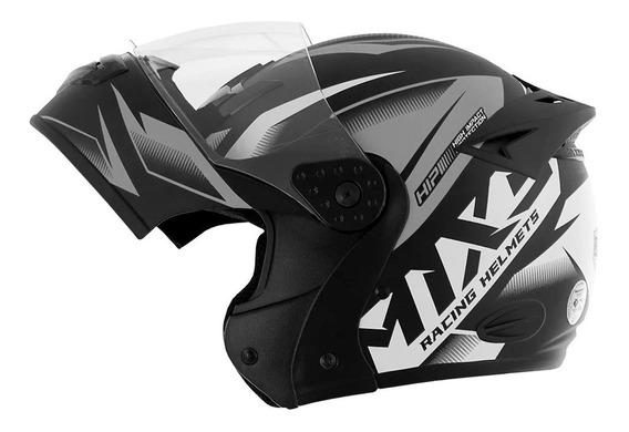 Capacete Escamoteável Motociclisa Mixs Storm Robocop V.cores