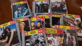 Coleção De Cards, Fichas, De Diversos Cantores Bandas...