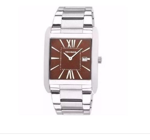 Relógio Masculino Technos Aço Modelo Quadrado - Gm15ak/1m
