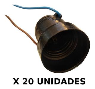 Portalampara Con Chicote X 20 Unidades