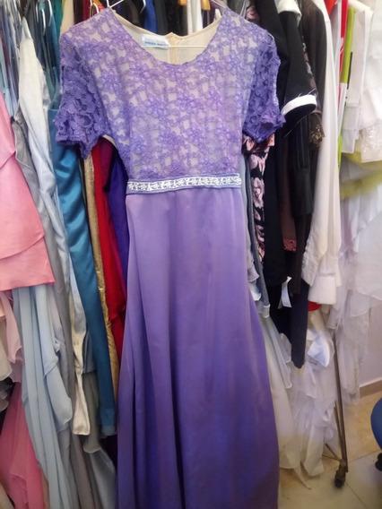 Vestido De Fiesta Gala Para Niña, Color Violeta.talle 14, 16