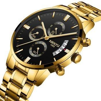 Relógio Masculino Nibosi Resistente Luxuoso Prova D´agua