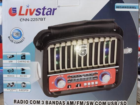 Rádio Retrô Am -fm-usb-cartão Sd.