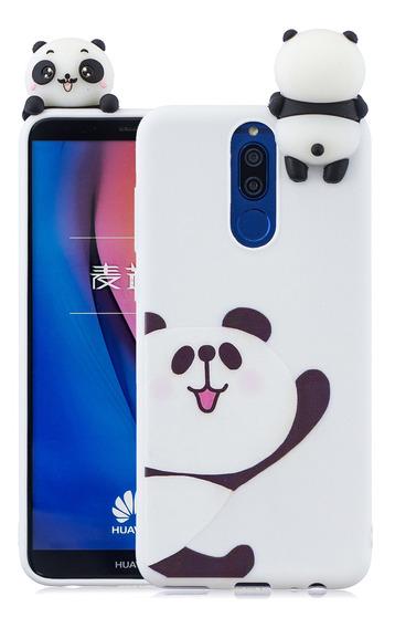 Para Huawei Mate 10 Lite 3d Bonito Colorido Animal Pintado T