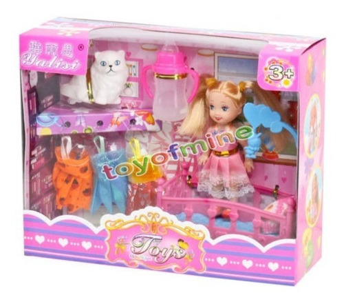 Imagen 1 de 1 de Princesa En La Cama Cambio Ropa Muñeca Juguete Set Para Rega