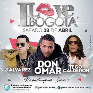 Boletas Palco I Love Bogotá Don Omar J Alvarez Tego Calde