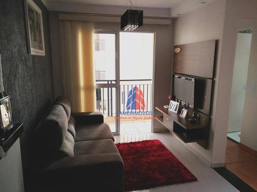 Apartamento Com 2 Dormitórios À Venda, 56 M² Por R$ 230.000,00 - Jardim Nossa Senhora Do Carmo - Americana/sp - Ap0366