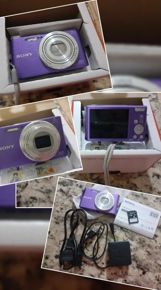 Câmera Sony Dsc-w830 Violeta 20.1 Mp Zoom 8x W830