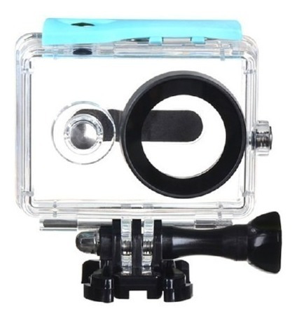 Caixa Estanque Câmera Xiaomi Yi 2k Waterproof Case Cor Azul