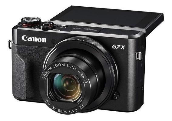 Canon PowerShot Serie G G7 X Mark II compacta cor preto