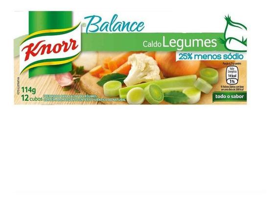 Caldo Em Tablete Legumes Knorr Balance Caixa 114g 12 Uni