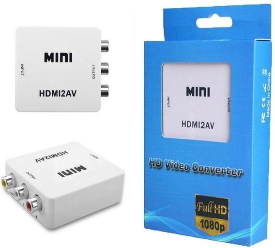 Mini Adaptador Conversor De Hdmi Para Video Rca 1080p