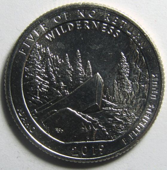 Usa Moneda 1/4 Dolar Idaho Parques Nacionales 2019 D Unc
