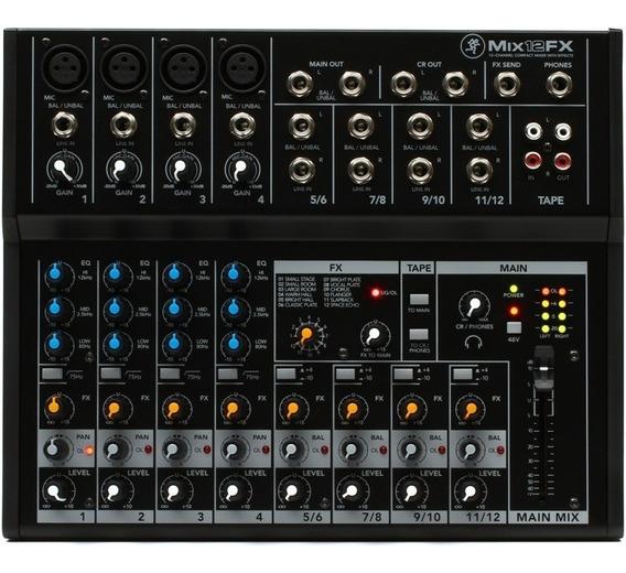 Mesa De Som Mackie Mixer Analogico 12 Canais Mix12fx + Nf
