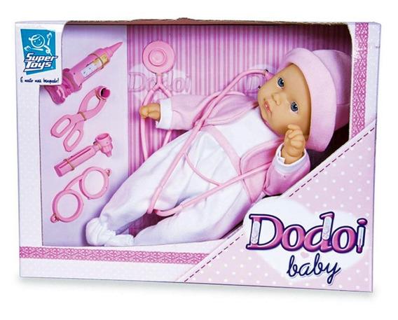 Boneca Dodoi Baby Brincar De Medica - Supertoys