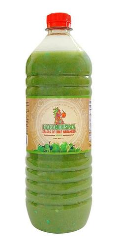Salsa De Chile Habanero Habanerísima Verde De 1 Lt