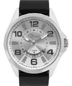 Relógio Condor Masculino Prata Pulseira Preta Co2115ktb/8k