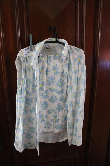 = Roupa Lote 634 Mulher Conjunto Calça Camisa M Preta Cor Br