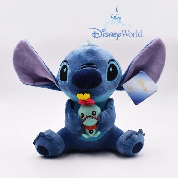Stitch Pelúcia Com Boneca Xepa Scrump - Disneyparks Original