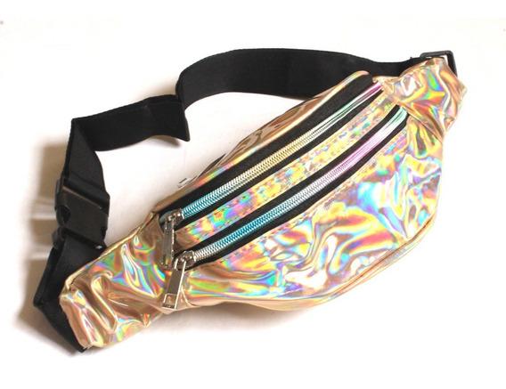Pochete Holográfica Feminina Moda Carnaval Metalizada Neon