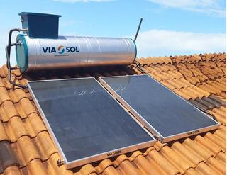Kit Aquecedor Solar Acoplado 300 Lts Com 2 Placas Via Sol