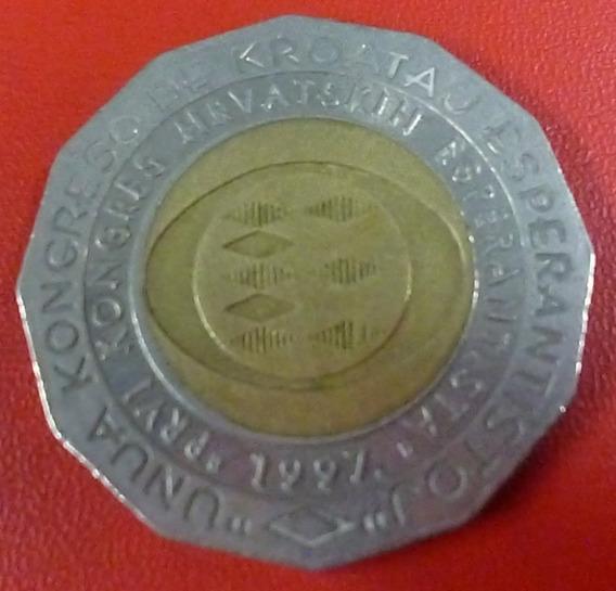 Croacia Bimetalica Congr. Int. De La Esperanza 25 Kuna 1997