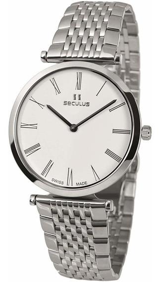 Reloj Seculus 1012g.3.1062 M Ss W Para Caballero Ext De Acero