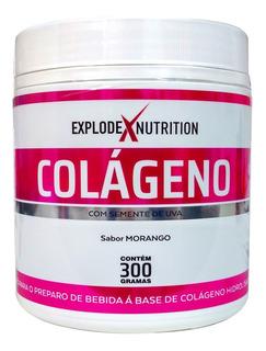 Colágeno Em Pó Hidrolisado 300g- Explode Nutrition