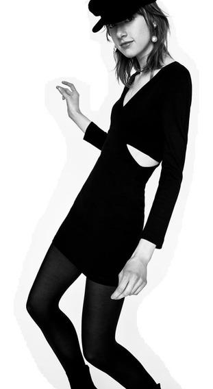Vestido Z.a.r.a. Corto Escote V