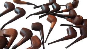 6 Cachimbos De Madeira Preto Velho Umbanda