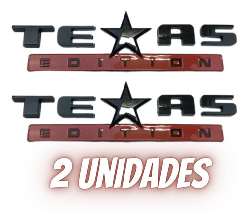 Imagem 1 de 6 de Emblema Texas Edition 2und Adesivo Ford Chevrolet Dodge Jeep
