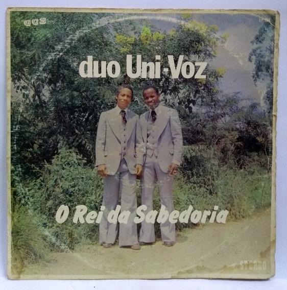 Lp Disco Vinil Duo Uni Voz O Rei Da Sabedoria