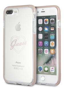 Funda Case Guess Transparente Rosa iPhone 6,7,8 Plus Origina