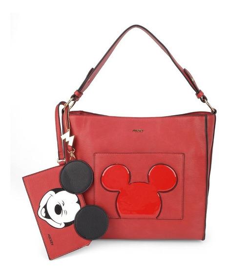 Bolsa + Necessaire Mickey / Queima Estoque / Original + Nf