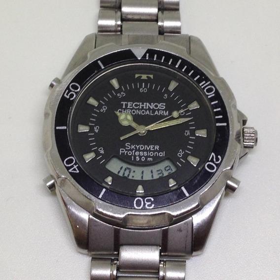 Relógio De Pulso Technos Skydiver Masculino U02621 Webclock