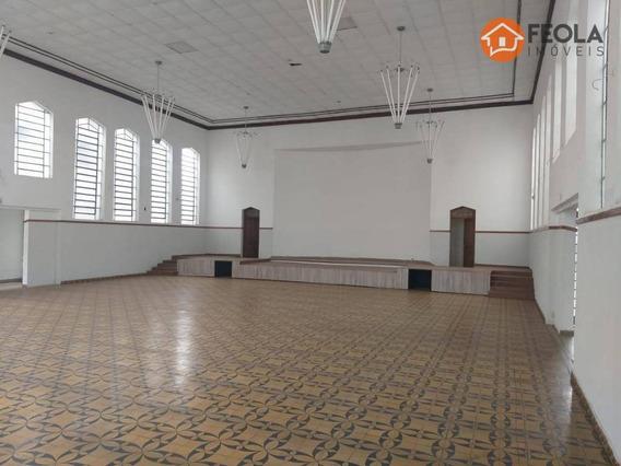 Salão Para Alugar, 446 M² Por R$ 5.000,00/mês - Vila Frezzarin - Americana/sp - Sl0316