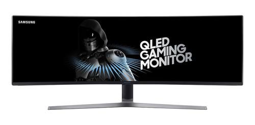 """Imagen 1 de 6 de Monitor gamer curvo Samsung C49HG90DM Qled 48.9"""" negro 100V/240V"""