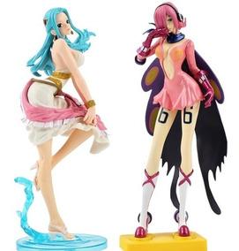 One Piece Vivi E Reiju 2pçs Action Figure 25cm